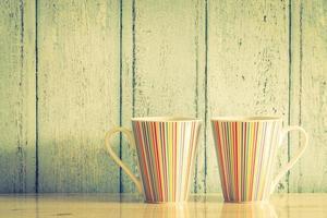 färgglad kaffekopp foto