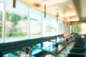 abstrakt defocused café och restaurang interiör bakgrund foto