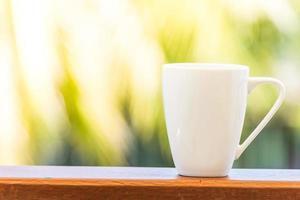 vit kaffekopp foto