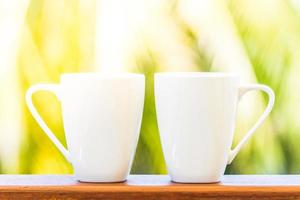 vita kaffekoppar foto