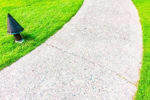 stenbana väg i trädgården
