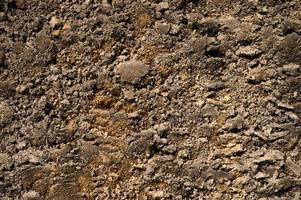 bakgrundsstruktur från den lösa ytan på sanden och jordjorden foto