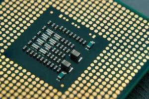 CPU, chipdatorprocessor, närbild foto