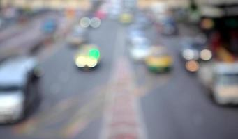 stadsbild för bokeh-trafik foto