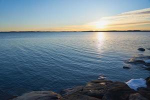 gyllene timmen vid kusten foto