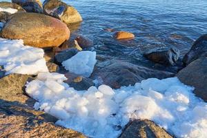 is kvar på kusten foto