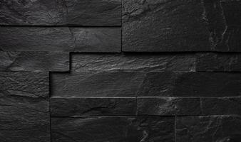 svart svart tegelvägg, industriell konsistens foto