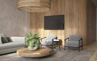 elegant modernt vardagsrum foto