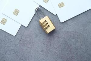 hänglås på kreditkort