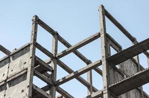 ram av betong och metall foto