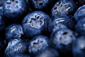 närbild av färska blåbär foto