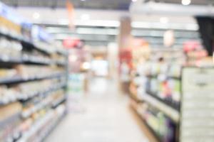 abstrakt oskärpa och bokeh köpcentrum och detaljhandel butik foto