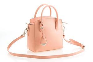 vacker elegans och lyx mode rosa kvinnor handväska foto