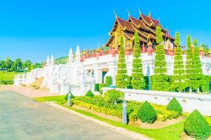 kunglig paviljong vid Chaing Mai, Thailand