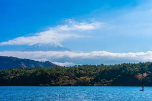 vackert landskap vid mt. fuji, japan