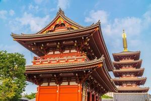 sensoji-tempel i asakusa-området i tokyo, japan foto