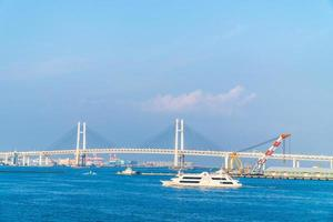yokohama bridge i yokohama, japan foto