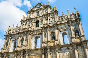 ruinerna av St. Paul kyrka i Macau City, Kina foto