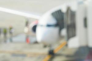 abstrakt suddighetsflygplan på flygplatsen foto