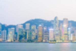 abstrakt defocused Hong Kong skyline