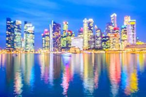 abstrakt defokuserad singapore stadsbakgrund
