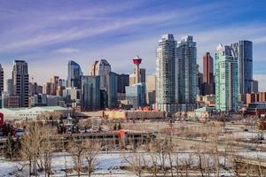 utsikt över centrala Calgary foto
