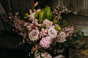lynnig blommig bukett foto