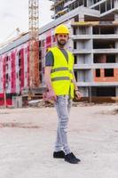 byggnadsarbetare ingenjör foto