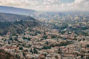 Flygfoto över Tbilisi foto