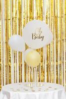 baby shower koncept med ballonger foto