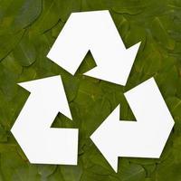 miljövänligt återvinningskoncept foto