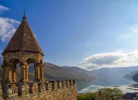 ananuri fästningskomplex i Georgien foto