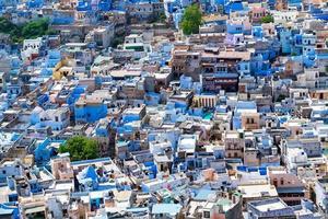 Flygfoto över Jodhpur City, Rajasthan, Indien foto