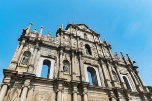 ruinerna av St. Pauls kyrka, Macau, Kina