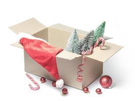 juldekorationer i en låda foto