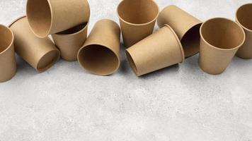 miljövänligt engångsbestick och kopiautrymme ovanifrån foto