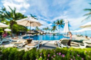 abstrakt oskärpa vackert hotell och resort bakgrund