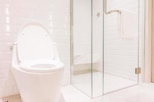 vit toalettstol foto