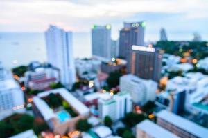 abstrakt defocuse vy av Pattaya stad, Thailand foto