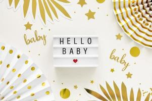 baby shower dekorationer foto