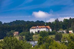 kloster saint anna på luzern sjön i schweiz foto