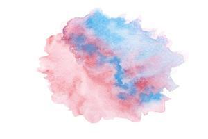 röd och blå akvarell foto