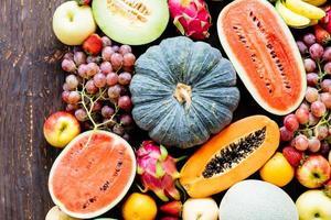 blandade och blandade frukter foto