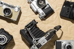 vintage fotokamerakomposition foto