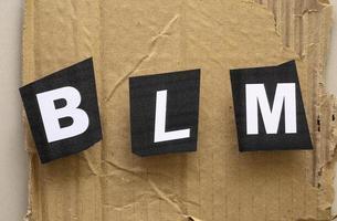 svart liv materia rörelse protest tecken foto