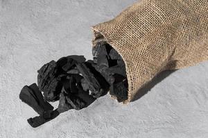 epiphany day säck med kol, koncept foto