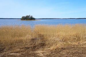 ö på Östersjökusten i Finland på våren foto