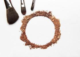 kosmetiska färgrutan i en cirkel foto