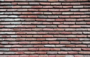 mönster bakgrund av gamla antika grov vintage tegelsten vägg på nära håll foto
