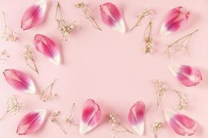 ovanifrån blommor kronblad foto